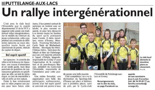 Rallye inter generations 2017